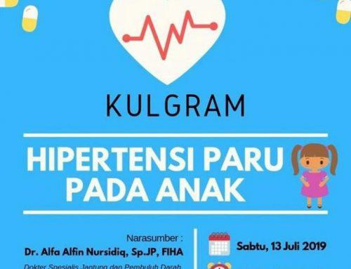 Kuliah WhatsApp 13.07.19 – Hipertensi Pulmonal pada Anak