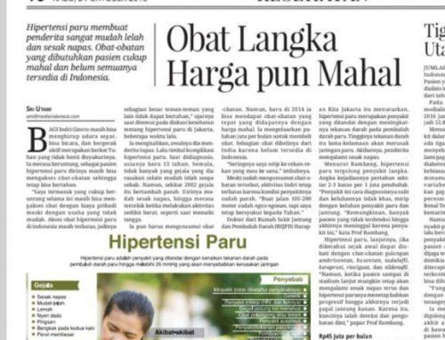 Koran Media Indonesia 24/10/18 – Obat Langka Harga pun Mahal