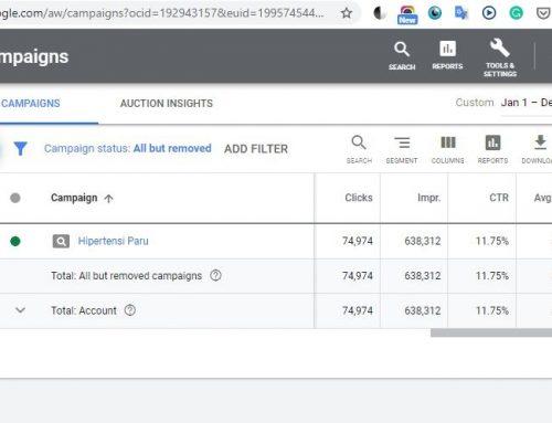 Laporan Iklan Awareness YHPI Melalui Situs Pencarian Google di 2019